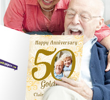 Happy 50th Golden Wedding Anniversary Cards