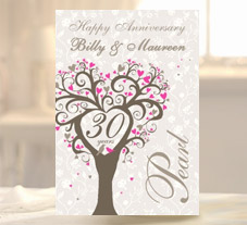 anniversary cards unique personalised from 1 79