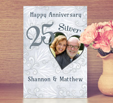 happy silver wedding anniversary cards - Wedding Anniversary Cards