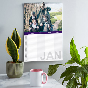 Personalised family calendars