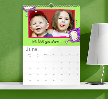 Personalised calendars from the kids