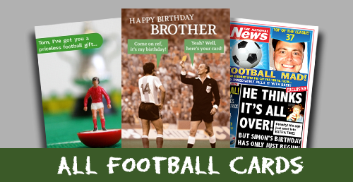 Personalised Football greeting cards