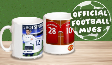 Personalised Official Football Mugs