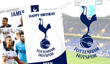 Personalised Tottenham Football Club football greeting cards