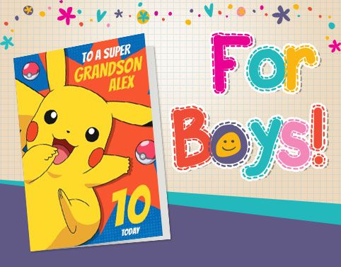 Personalised Cards for Boys - From €1.99