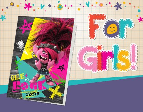 Personalised Cards for Girls - From €1.99