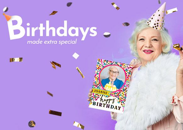 Personalised Birthday Cards and Gifts - From €1.99