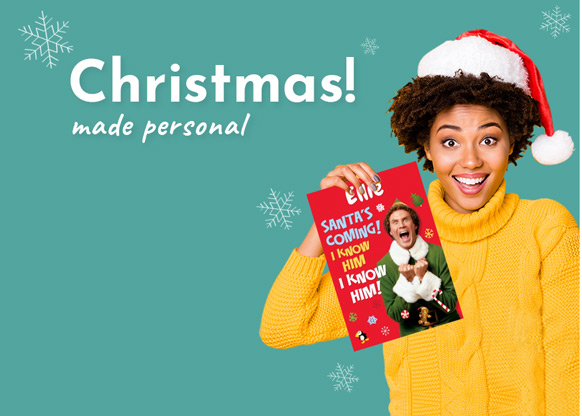 Personalised Christmas Cards and Gifts - From £1.99