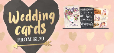 Personalised Wedding Cards - From £1.79