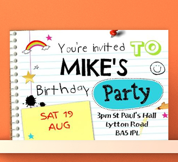 Personalised invitations unique party invites more kids party invitations filmwisefo Gallery