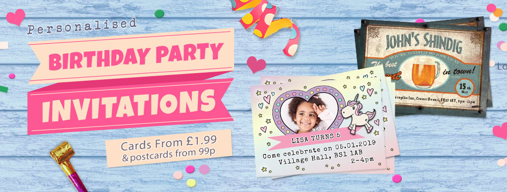 personalised invitations unique party invites more