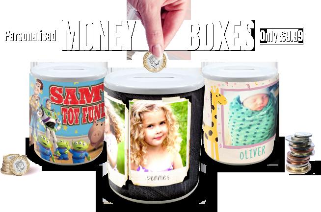 Personalised Money Boxes | Unique Money Pots