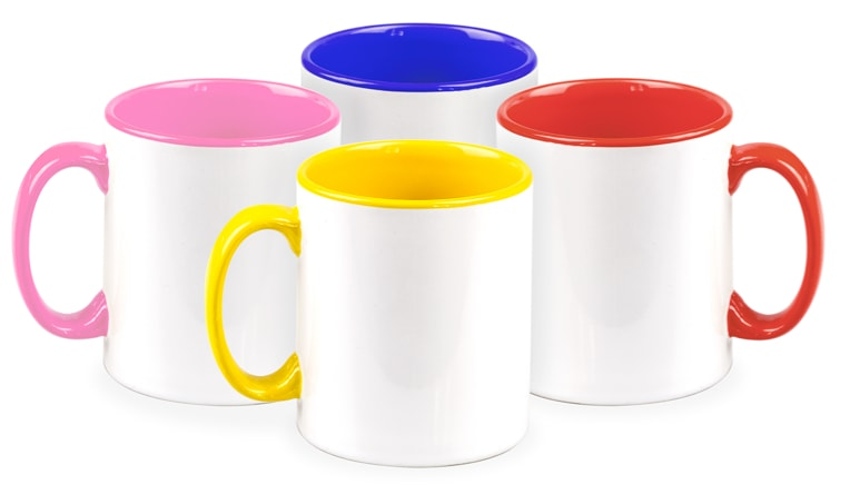 Coloured inside mugs