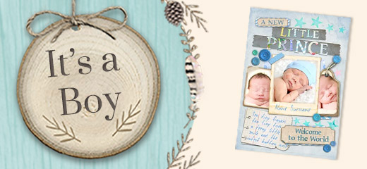 New Baby Boy Cards