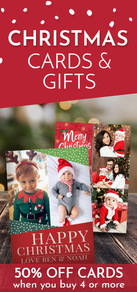 Personalised Christmas Cards & Gifts