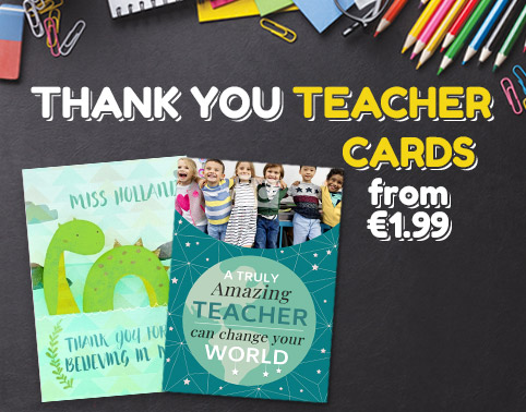 Thank You Teacher Cards - From €1.99