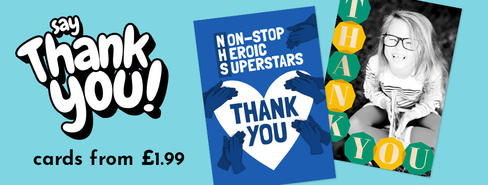 Thank You Cards from £1.99