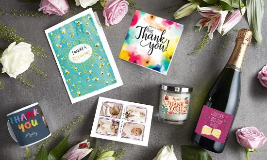 thank you cards  personalised  unique  funky pigeon