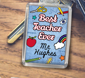 Thank You Teacher Keyrings