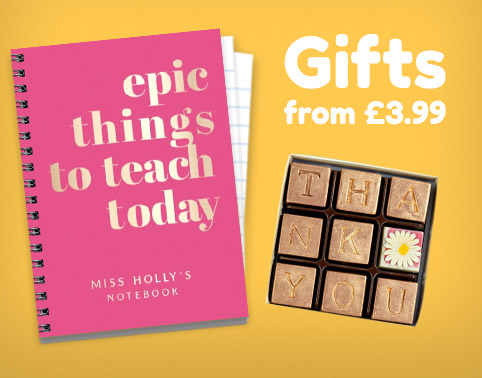 Personalised Thank You Teacher Gifts - From £4.99