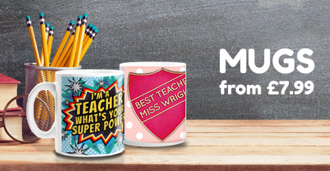 Thank You Teacher Mugs - From £7.99