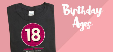Special Birthday Ages T-shirts
