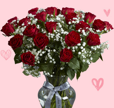 Valentines Flowers Roses Free Next Day Delivery Funky Pigeon