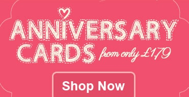 Personalised Anniversary Cards - From £1.79