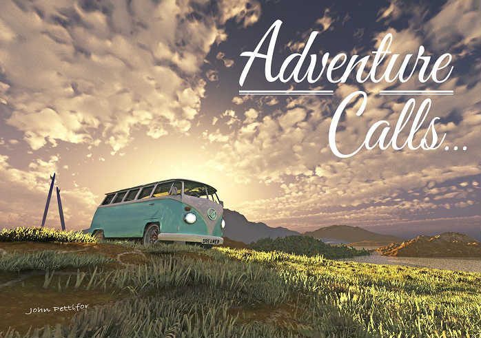 adventure calls bon voyage card cover