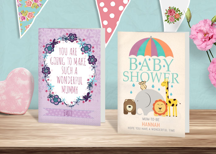 Baby shower messages what to write in a card funky pigeon blog baby shower cards on a shelf m4hsunfo