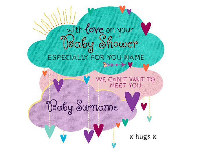 Can T Wait To Meet You Baby Shower Card Cover