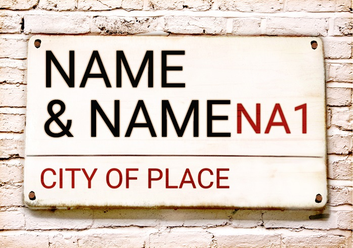 London Street Sign New Home card