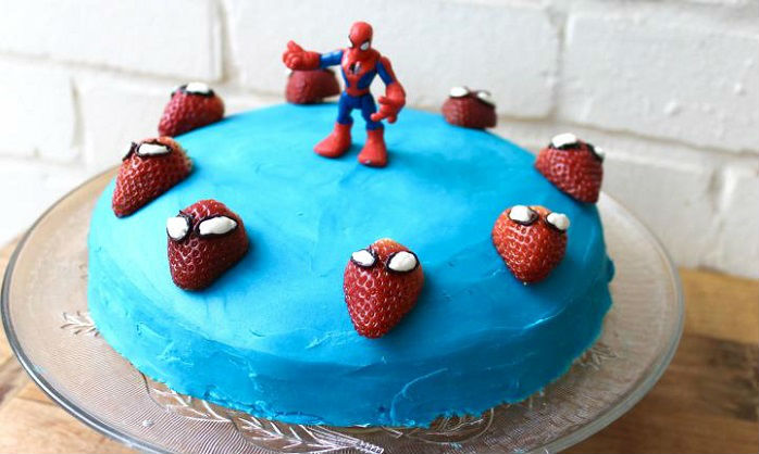 Simple Spider Man Cake Spiderman Birthday