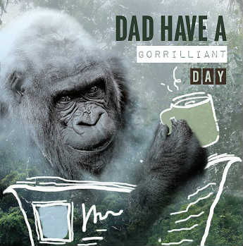 gorilla fathers day card