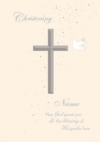 Religious Love Themed Christening Card