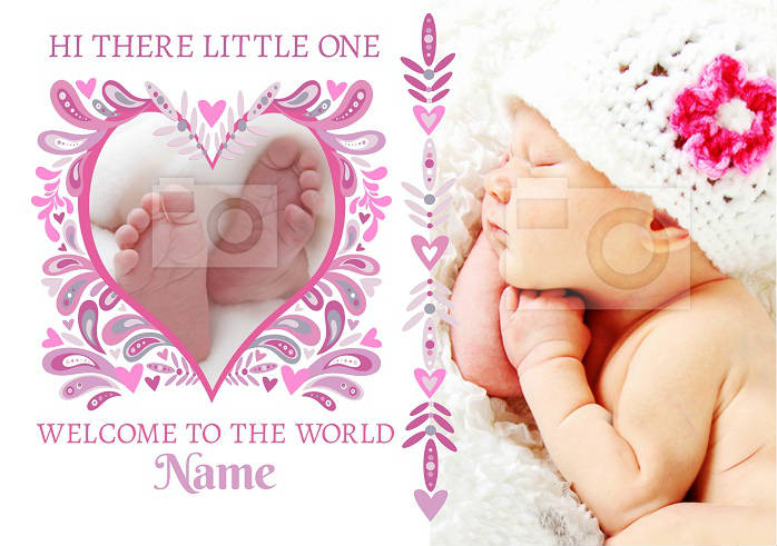 Hi There Little One New Baby Card