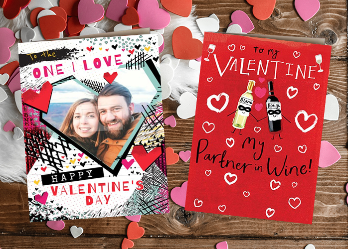 Funky pigeon valentines' card