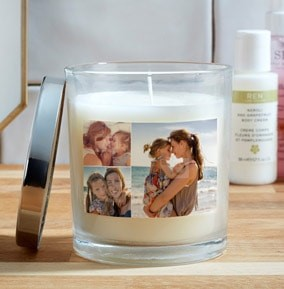 Mother's day photo candle