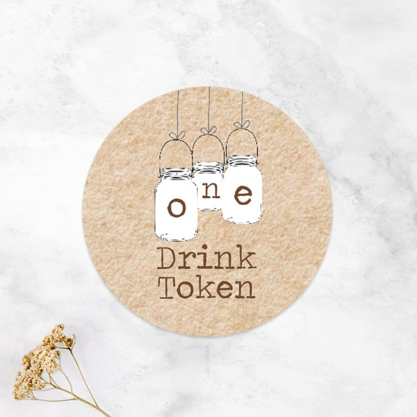 wedding drink tokens