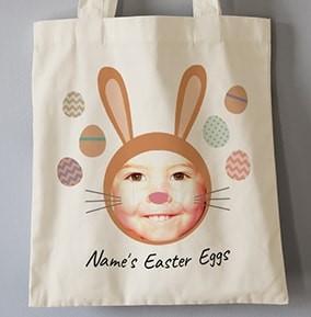 Personalised Easter tote bag