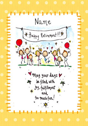 A 4-Farewell cardretirement card for colleagues