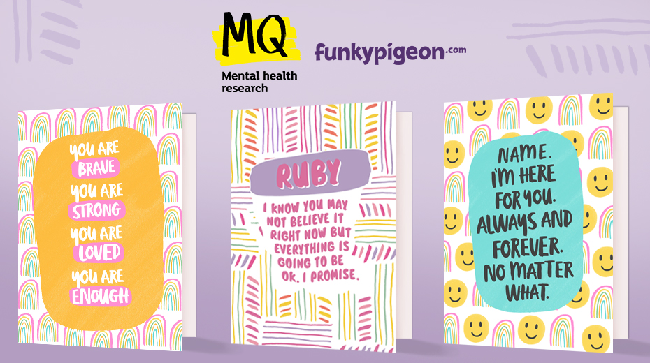 Funky Pigeon and MQ Mental Health Research Header