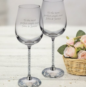 personalised wine glasses funky pigeon