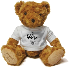Henry Non Personalised Bear - Dad, our Hero £ 14.99