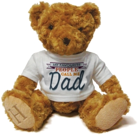 Henry Non Personalised Bear - My Favourite people call me Dad