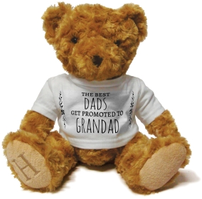 Henry Non Personalised Bear - Best Dads get Promoted