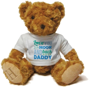 Henry Non Personalised Bear - Love you to the Moon and Back Daddy