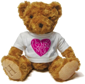 Henry Non Personalised Bear - I Love my Mum Heart