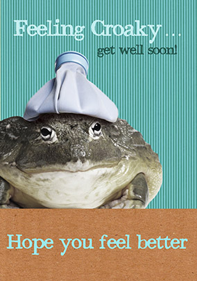 Get Well Card - Feeling Croaky