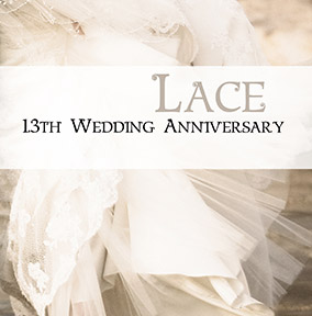 Wedding Anniversary Card - Lace